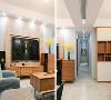 客厅运用了哑光面仿古砖、天然的石材、原木色系的家私、高级灰的软布艺以及时尚都市挂画,放眼望去满是惬意。营造出自然舒适,淡雅高级的品质生活空间。