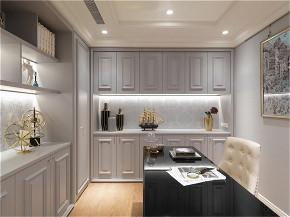 装修设计 装修完成 新古典 书房图片来自幸福空间在99平,奢华品味,新古典内敛美宅的分享