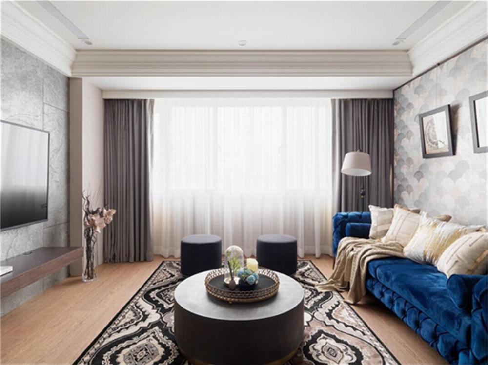装修设计 装修完成 新古典 客厅图片来自幸福空间在99平,奢华品味,新古典内敛美宅的分享