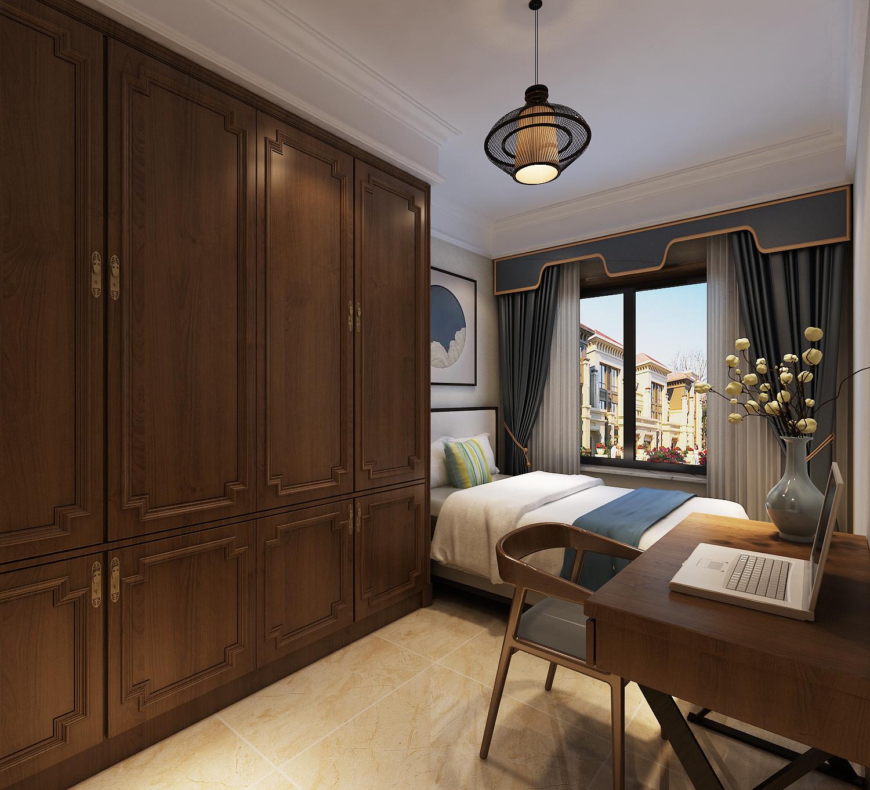三居 中式 客厅 定制家装 温馨 书房图片来自业之峰装饰旗舰店在凛冬傲梅的分享
