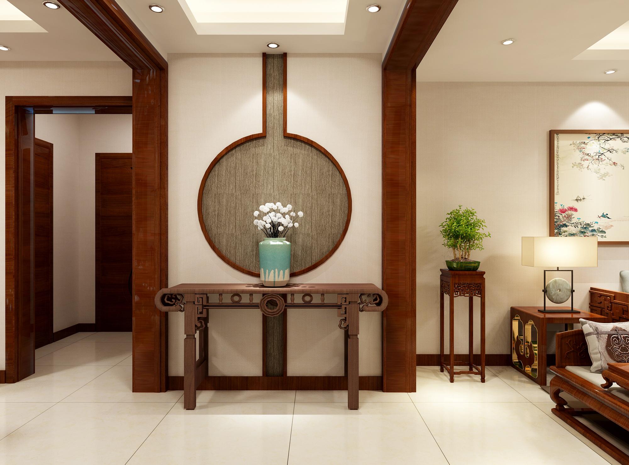 三居 80后 新中式 客厅 玄关图片来自业之峰装饰旗舰店在团圆中国结的分享