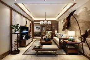 三居 中式 客厅 定制家装 温馨 客厅图片来自业之峰装饰旗舰店在凛冬傲梅的分享