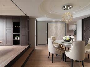 装修设计 装修完成 新古典 餐厅图片来自幸福空间在99平,奢华品味,新古典内敛美宅的分享