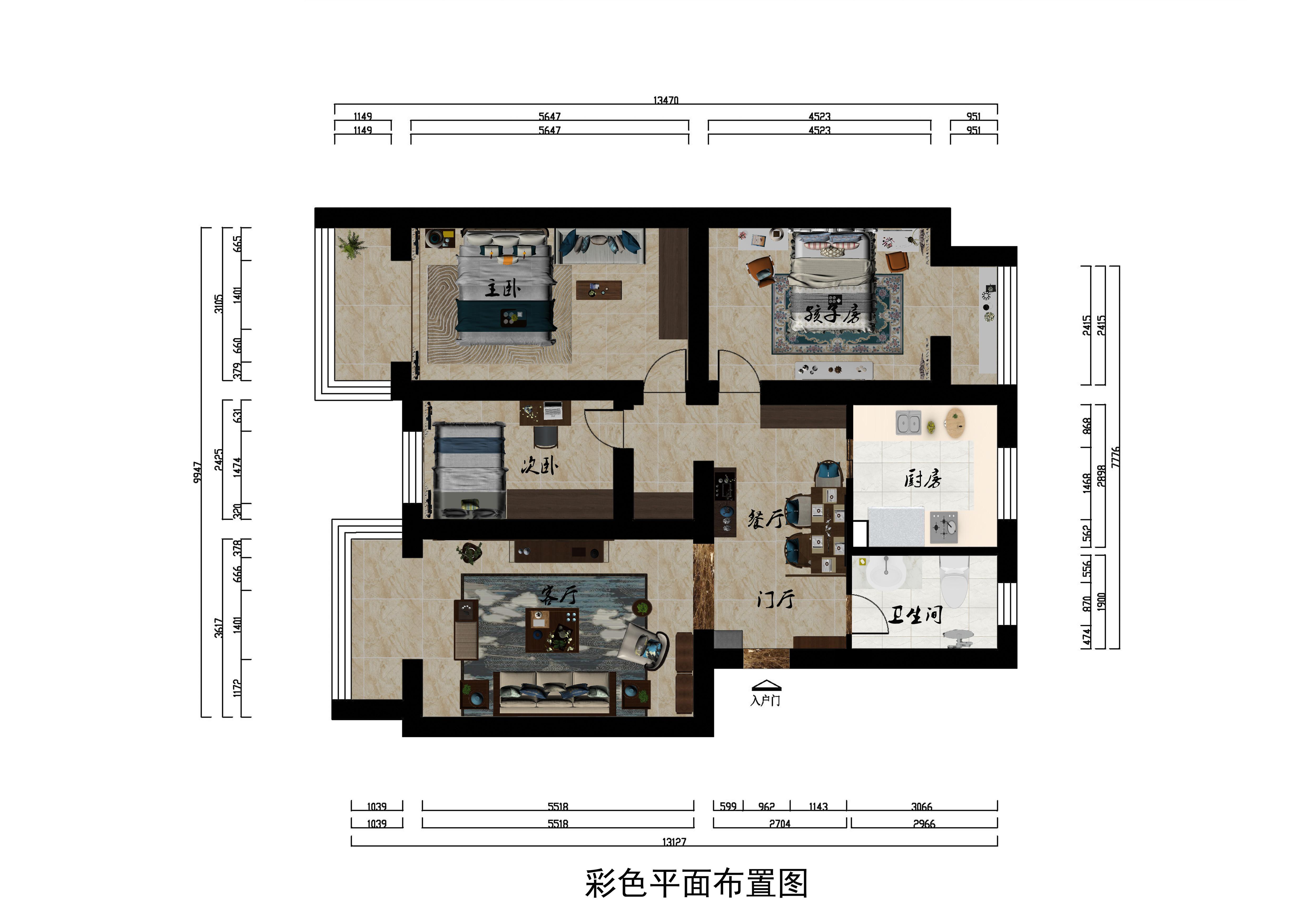 三居 中式 客厅 定制家装 温馨 户型图图片来自业之峰装饰旗舰店在凛冬傲梅的分享