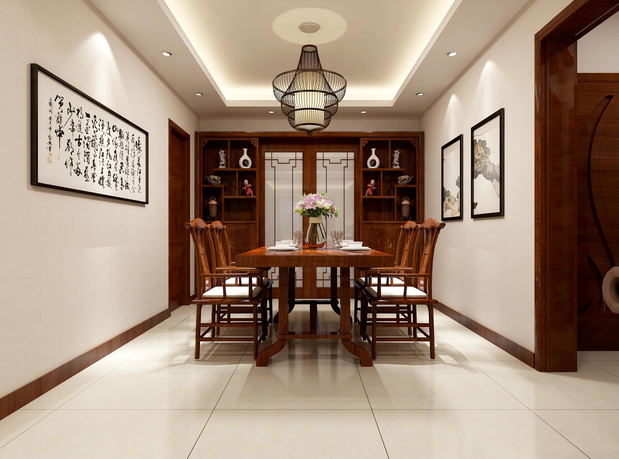 三居 80后 新中式 餐厅图片来自业之峰装饰旗舰店在团圆中国结的分享