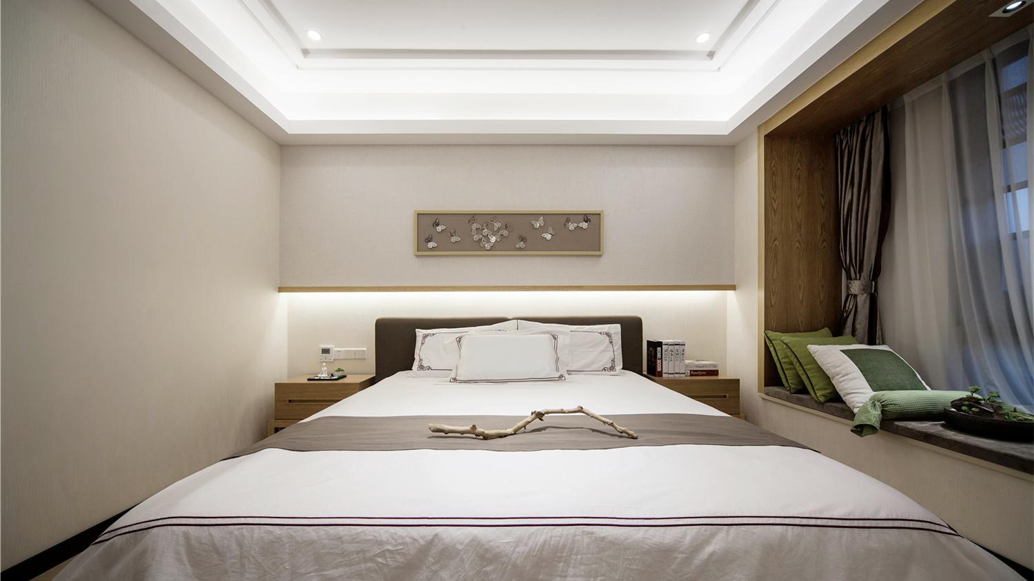 新东方 新中式 现代中式 天汇设计 游小话 卧室图片来自福建天汇设计工程有限公司在THD-天汇设计《清风韵》的分享