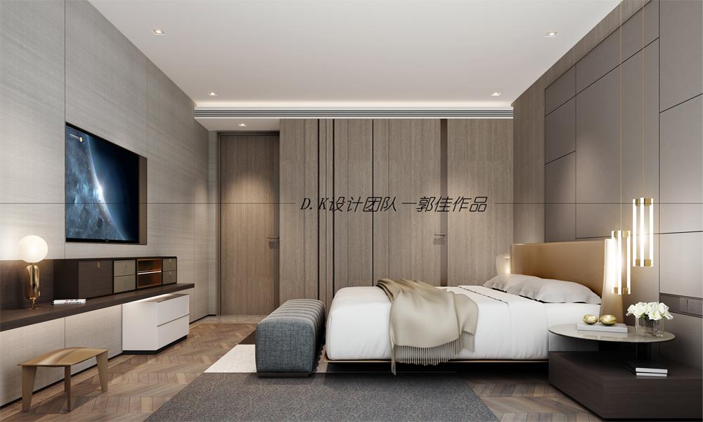 卧室图片来自深圳浩天装饰在南山香格名苑原木轻奢风格装修的分享