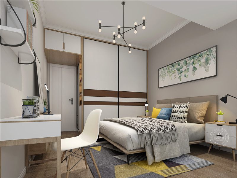 卧室图片来自深圳浩天装饰在宝安天福华府现代简约案例欣赏的分享