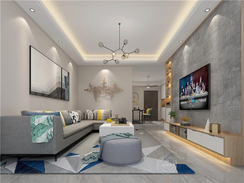 客厅图片来自深圳浩天装饰在宝安天福华府现代简约案例欣赏的分享