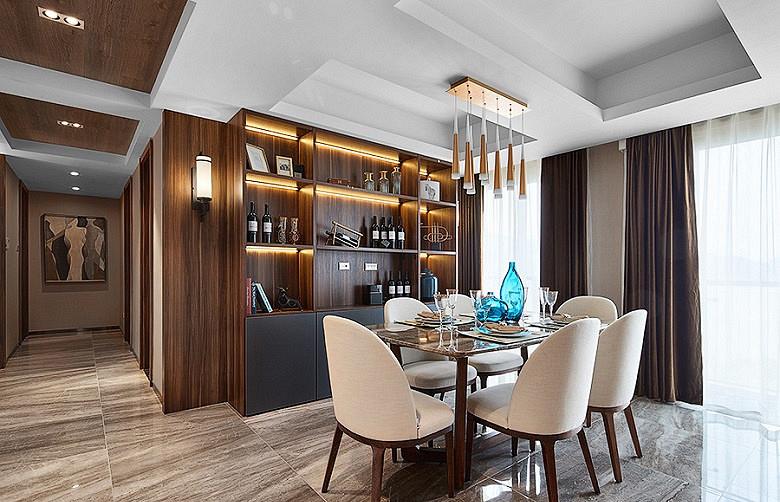 餐厅图片来自家装大管家在120平简约雅致3居 回归最初美好的分享