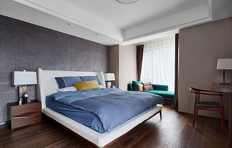卧室图片来自家装大管家在120平简约雅致3居 回归最初美好的分享