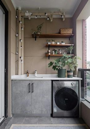 简约 二居 收纳 旧房改造 阳台图片来自北京今朝装饰在86㎡清新文艺两居室的分享