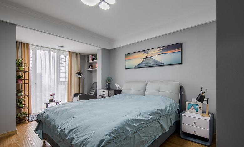 卧室图片来自家装大管家在一眼就爱上 89平时尚北欧混搭家的分享