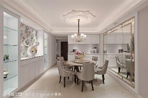 装修设计 装修完成 新古典 餐厅图片来自幸福空间在225平, 优雅新古典  美感艺术宅的分享