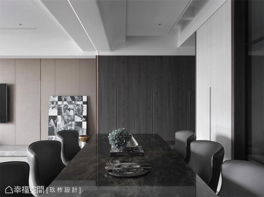 装修设计 装修完成 餐厅图片来自幸福空间在149平, 现代简约宁静私宅的分享