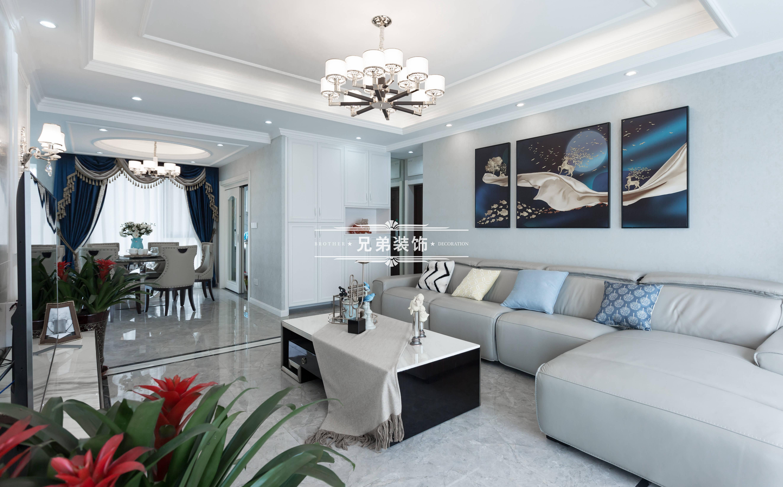 欧式 高层 设计 客厅图片来自重庆兄弟装饰黄妃在金科廊桥水岸全案装饰装修设计的分享