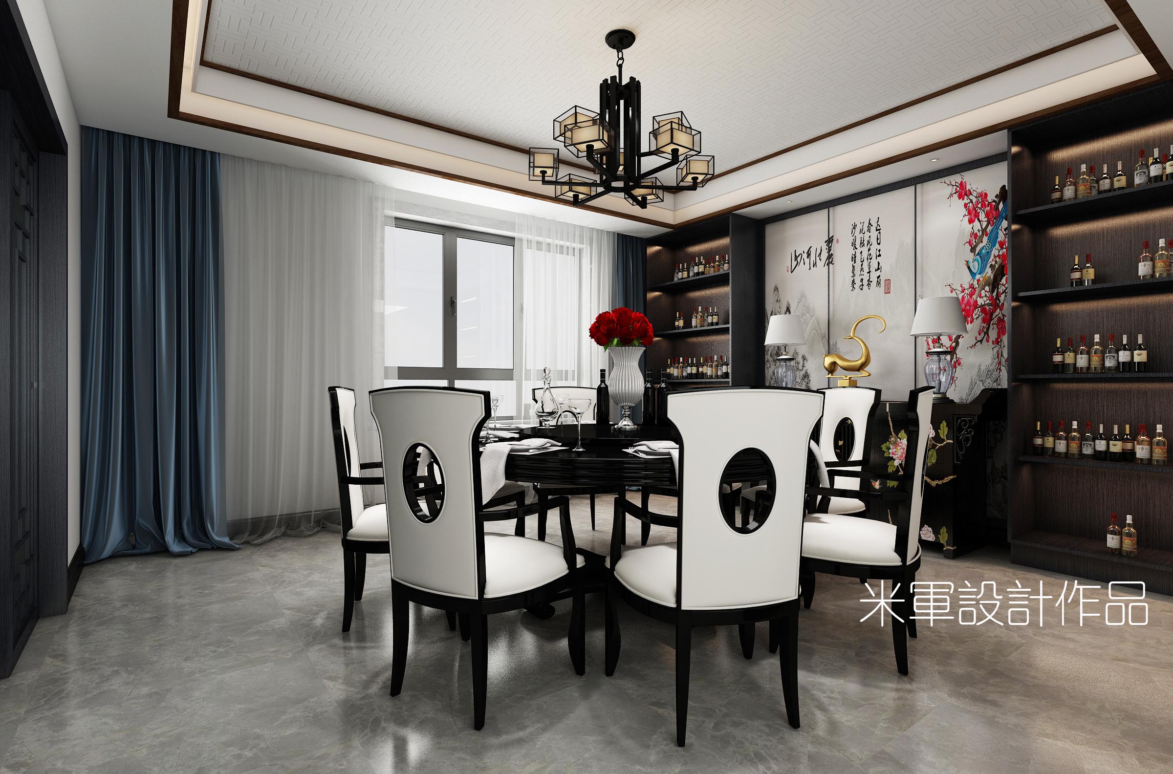 别墅 新中式图片来自米军-首席设计师在简单又有内涵的新中式设计的分享