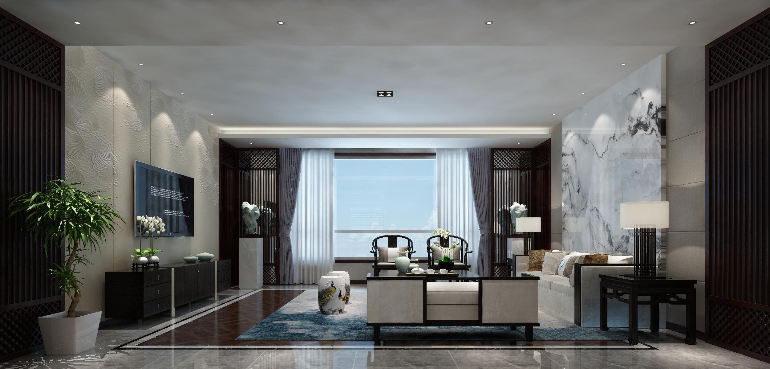 客厅图片来自业之峰装饰旗舰店在古韵山水的分享