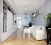 电视柜和墙上的木质壁橱增大了客厅的存储面积,客厅沙发背后的投影仪,可以打在从吊顶拉下来的投影幕上成像,轻松享用大屏幕。