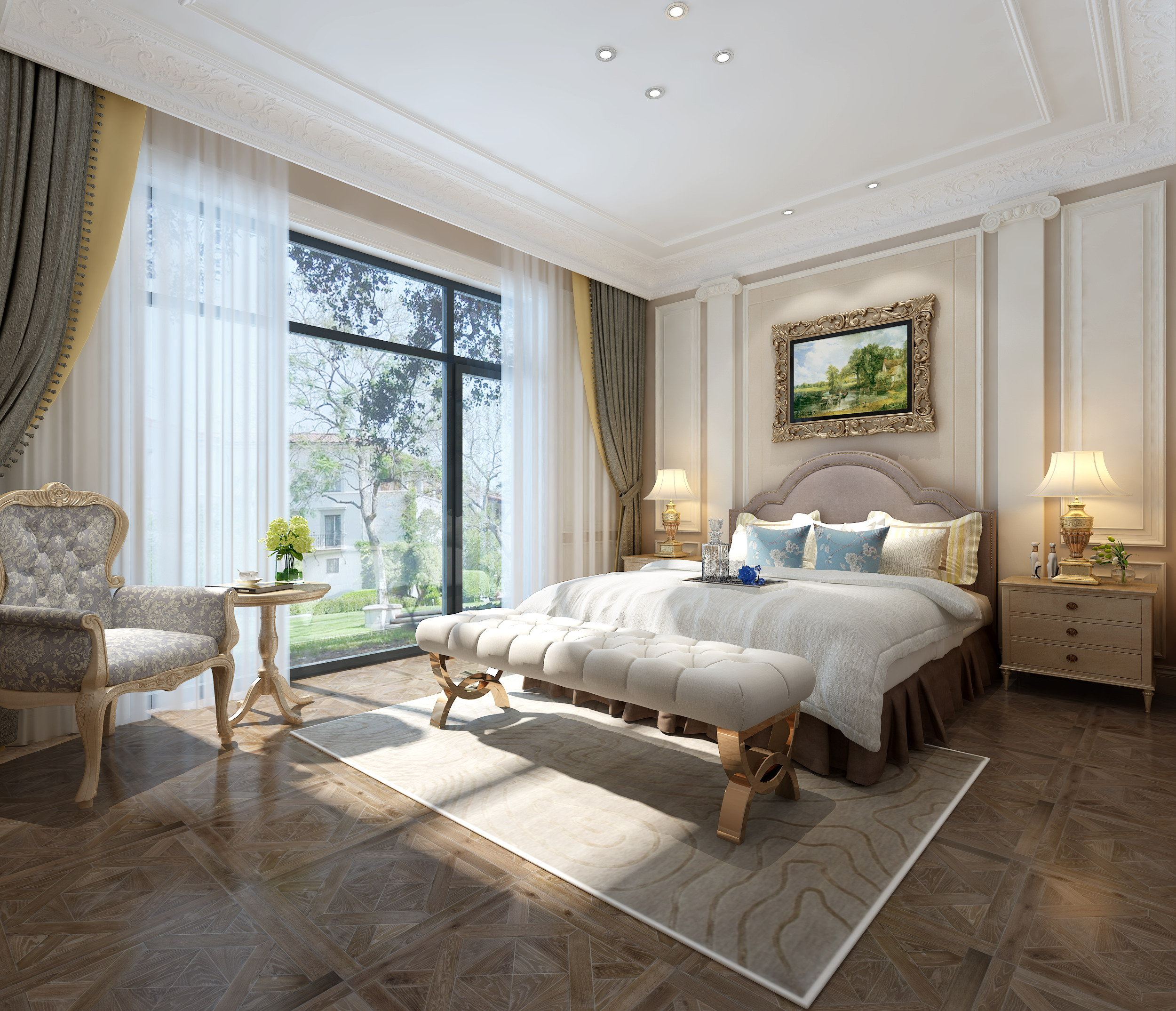 卧室图片来自业之峰装饰旗舰店在柔情宫廷的分享