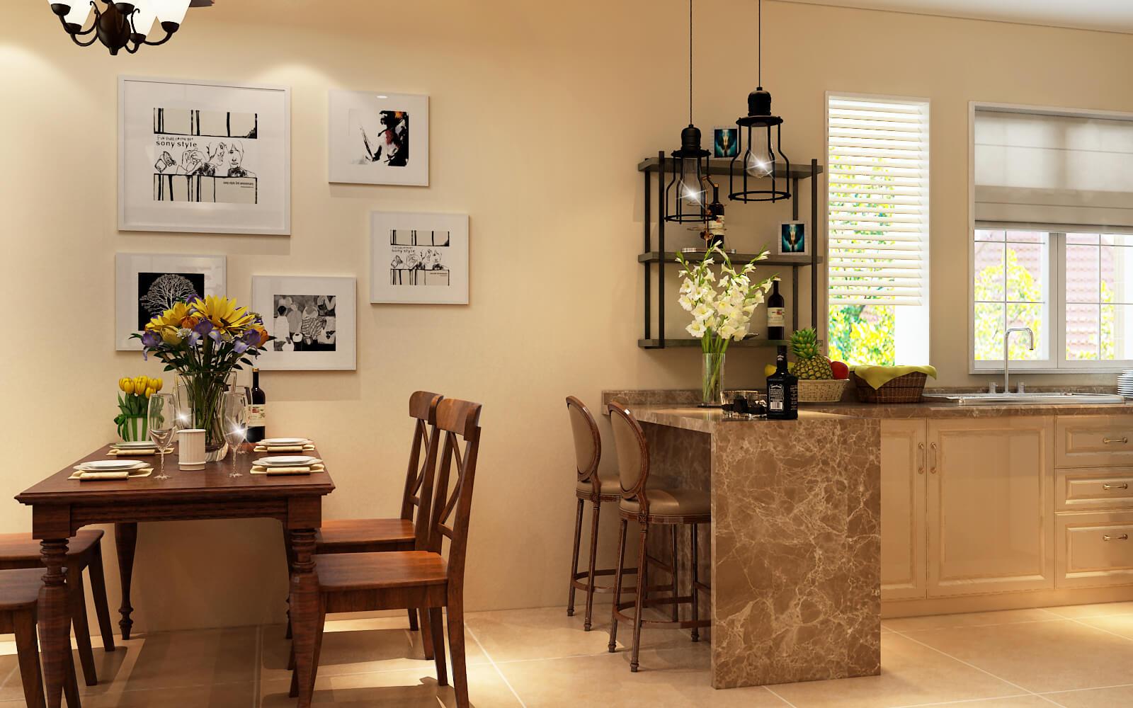 田园 客厅 厨房 餐厅 过道图片来自乐粉_20190314172533168在美式田园风格的分享