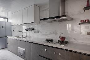 简约 现代 黑白灰 跃层 厨房图片来自俏业家装饰在龙湖春森彼岸现代黑白灰实景案例的分享