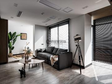 龙湖春森彼岸现代黑白灰实景案例