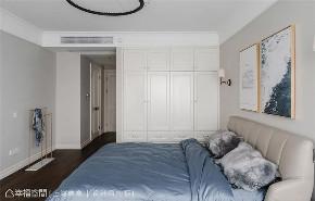 四居 美式 上海装修 设计师 上海映象 上海设计 幸福空间 卧室图片来自幸福空间在荏苒 |美式随兴恬淡之家的分享