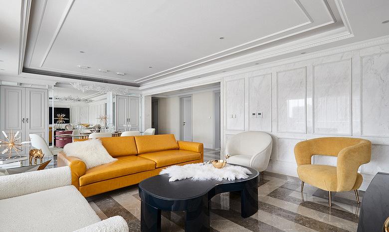 客厅图片来自家装大管家在净心看世界 168平法式浪漫3居的分享