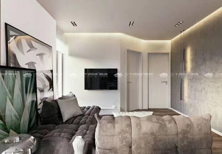 现代简约 简约 收纳 小资 白领 三居 混搭 舒适 创意 卧室图片来自二十四城装饰(集团)昆明公司在绿城春江明月  现代简约风的分享
