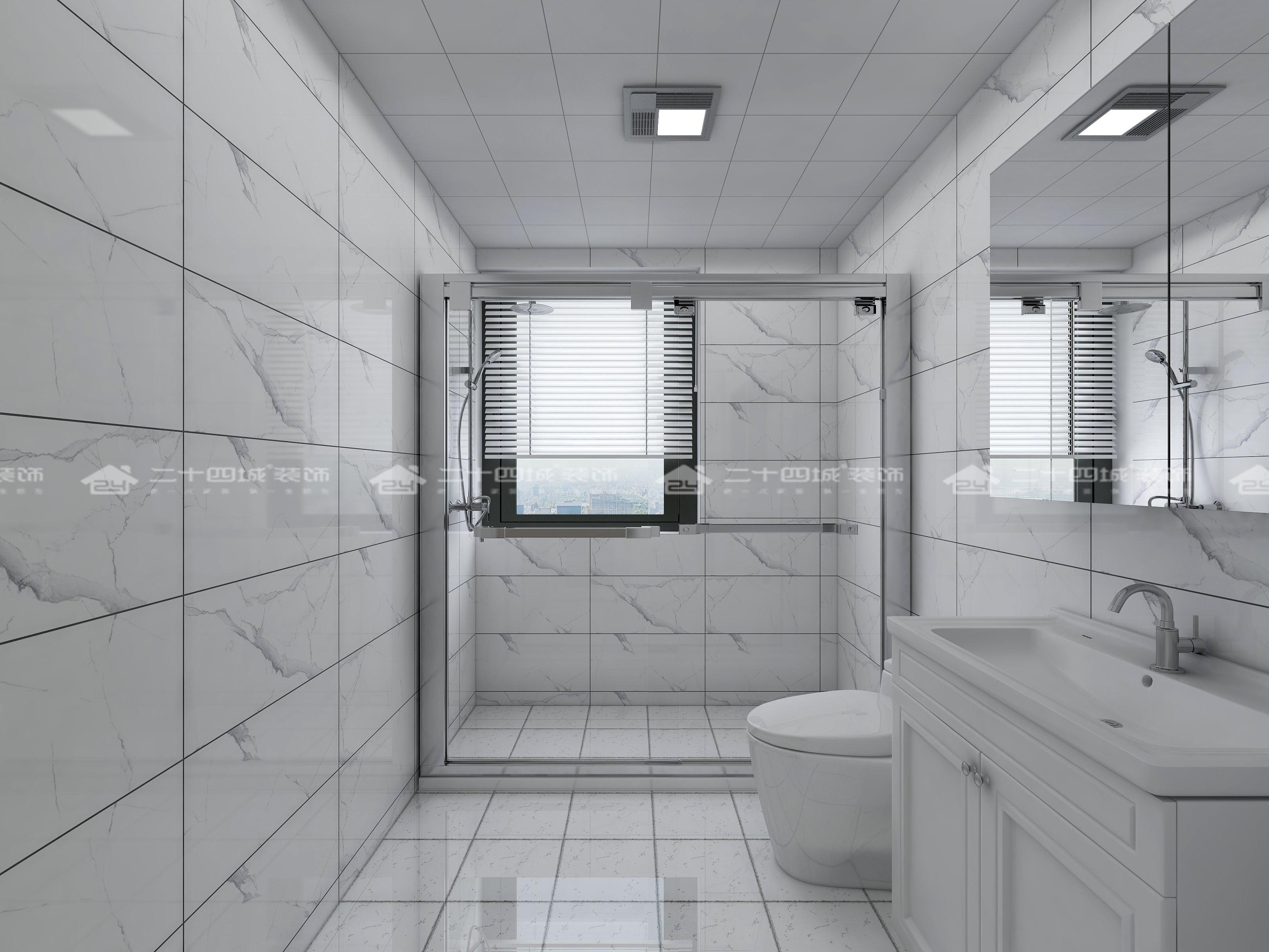现代简约 现代 时尚 白领 小资 收纳 混搭 未来家 定制家 卫生间图片来自二十四城装饰(集团)昆明公司在恒泰滇池名门  现代简约的分享