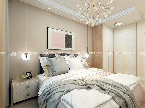 简约 清新北欧 小资 白领 收纳 温馨 舒适 梦想家 未来家 卧室图片来自二十四城装饰(集团)昆明公司在保利中航玺樾  清新北欧风的分享