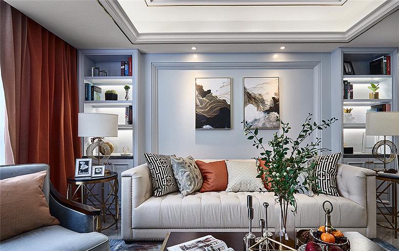 客厅图片来自家装大管家在春暖花开 112平美式温馨时尚3居的分享