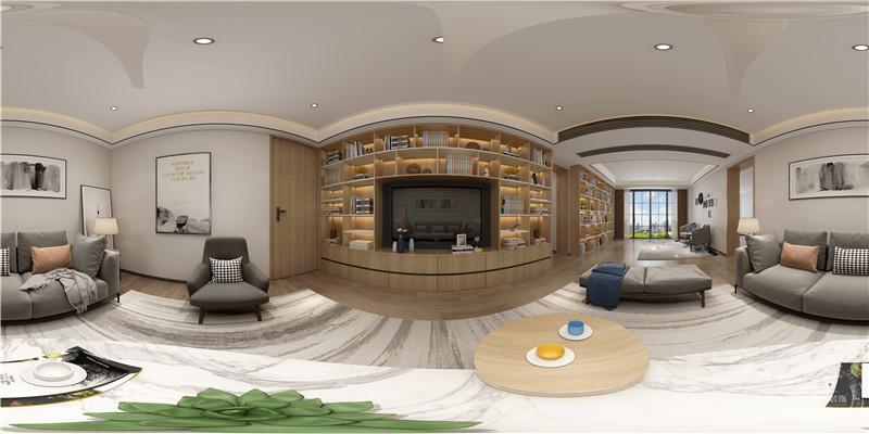 客厅图片来自深圳浩天装饰在博海名苑400㎡现代极简风格的分享
