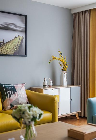 客厅图片来自家装大管家在96平北欧时尚两居 别有一番滋味的分享