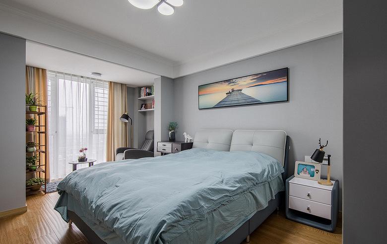 卧室图片来自家装大管家在96平北欧时尚两居 别有一番滋味的分享
