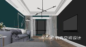 三居 北欧 客厅图片来自韦克空间设计在转角皆储物,127㎡北欧暖心美宅的分享