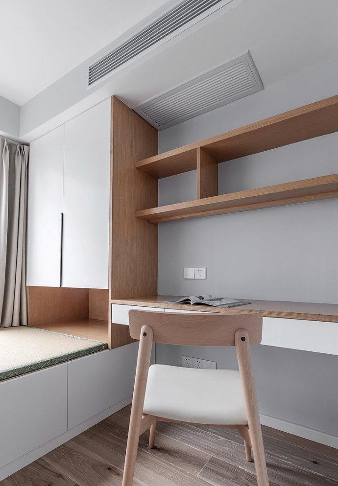欧式 三居 收纳 旧房改造 80后 卧室图片来自北京今朝装饰在80㎡北欧风格三居室 的分享