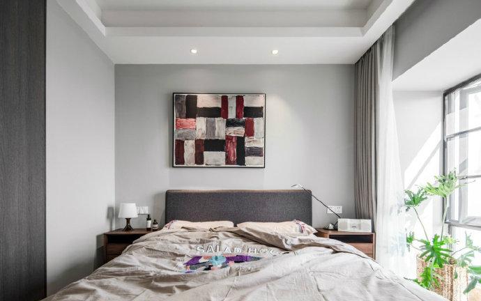 欧式 二居 收纳 旧房改造 80后 卧室图片来自北京今朝装饰在70㎡北欧混搭风格二居室的分享