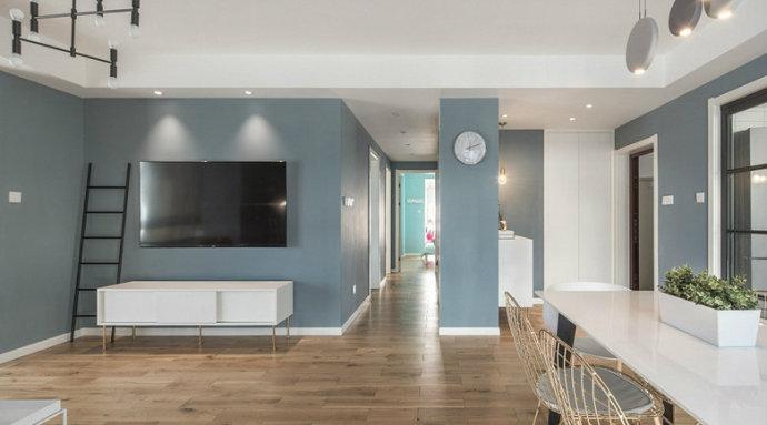 三居 欧式 收纳 旧房改造 80后 客厅图片来自北京今朝装饰在休闲惬意蓝灰色感觉好干净舒适!的分享