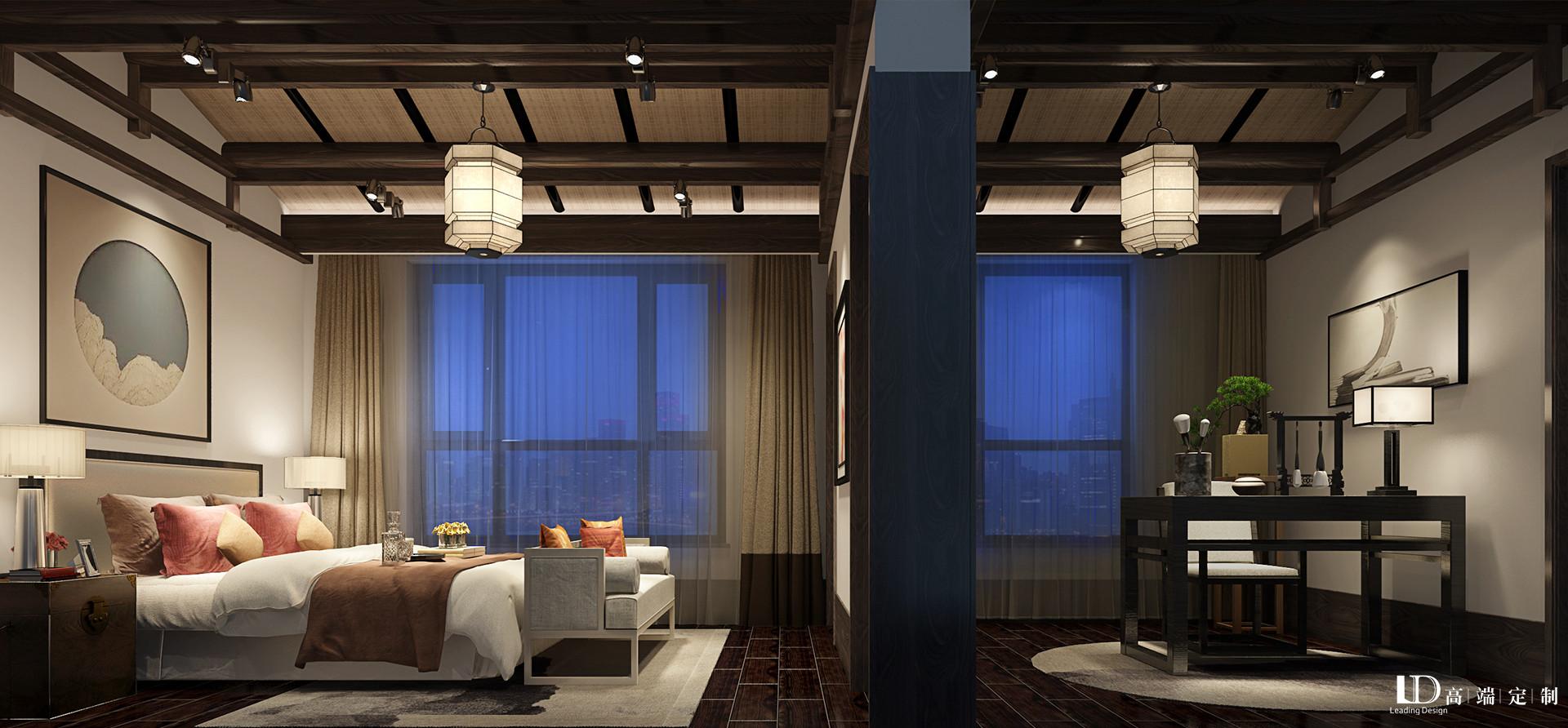 别墅 新中式 林语堂 卧室图片来自重庆兄弟装饰黄妃在南岸林语堂别墅装修设计中式效果的分享