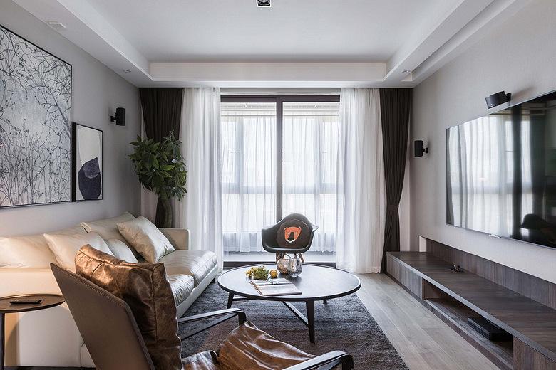 客厅图片来自家装大管家在简约明快 116平台式简约时尚3居的分享