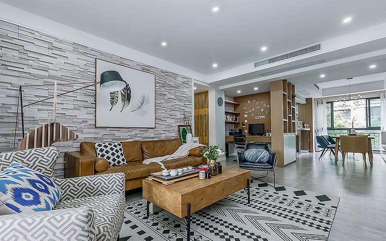 客厅图片来自家装大管家在处处精彩 130平现代北欧时尚3居的分享
