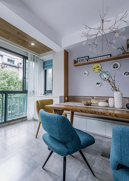 餐厅图片来自家装大管家在处处精彩 130平现代北欧时尚3居的分享