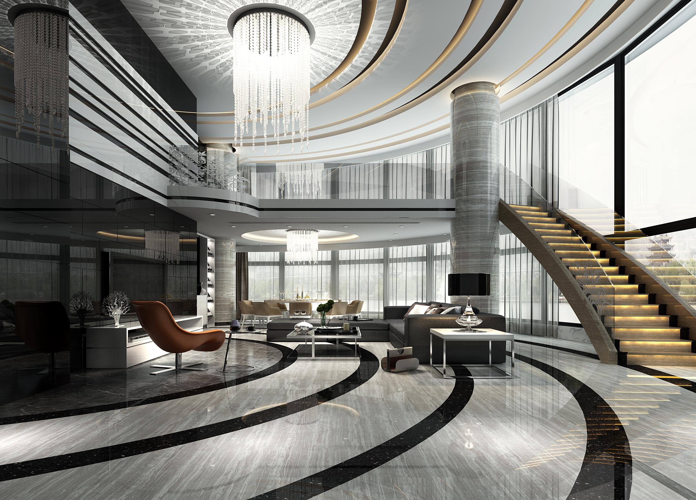 客厅 超现代 跃层 大客厅图片来自几墨空间设计在几墨设计 | 摩登未来的分享