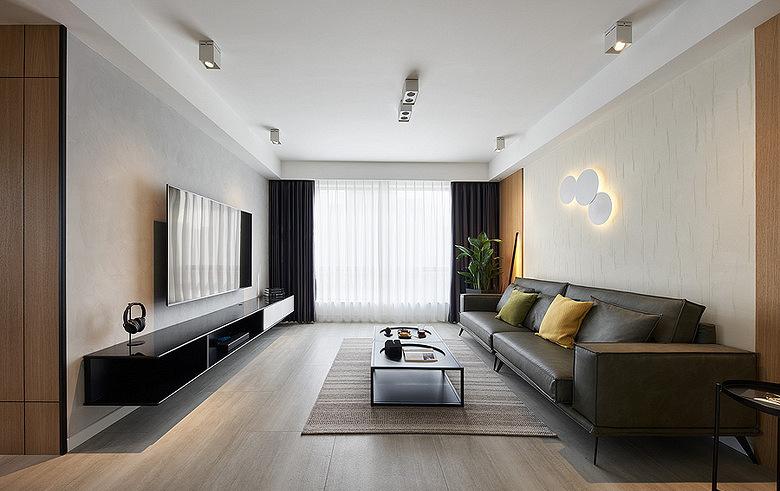 客厅图片来自家装大管家在轻松惬意 136平现代简约清雅3居的分享