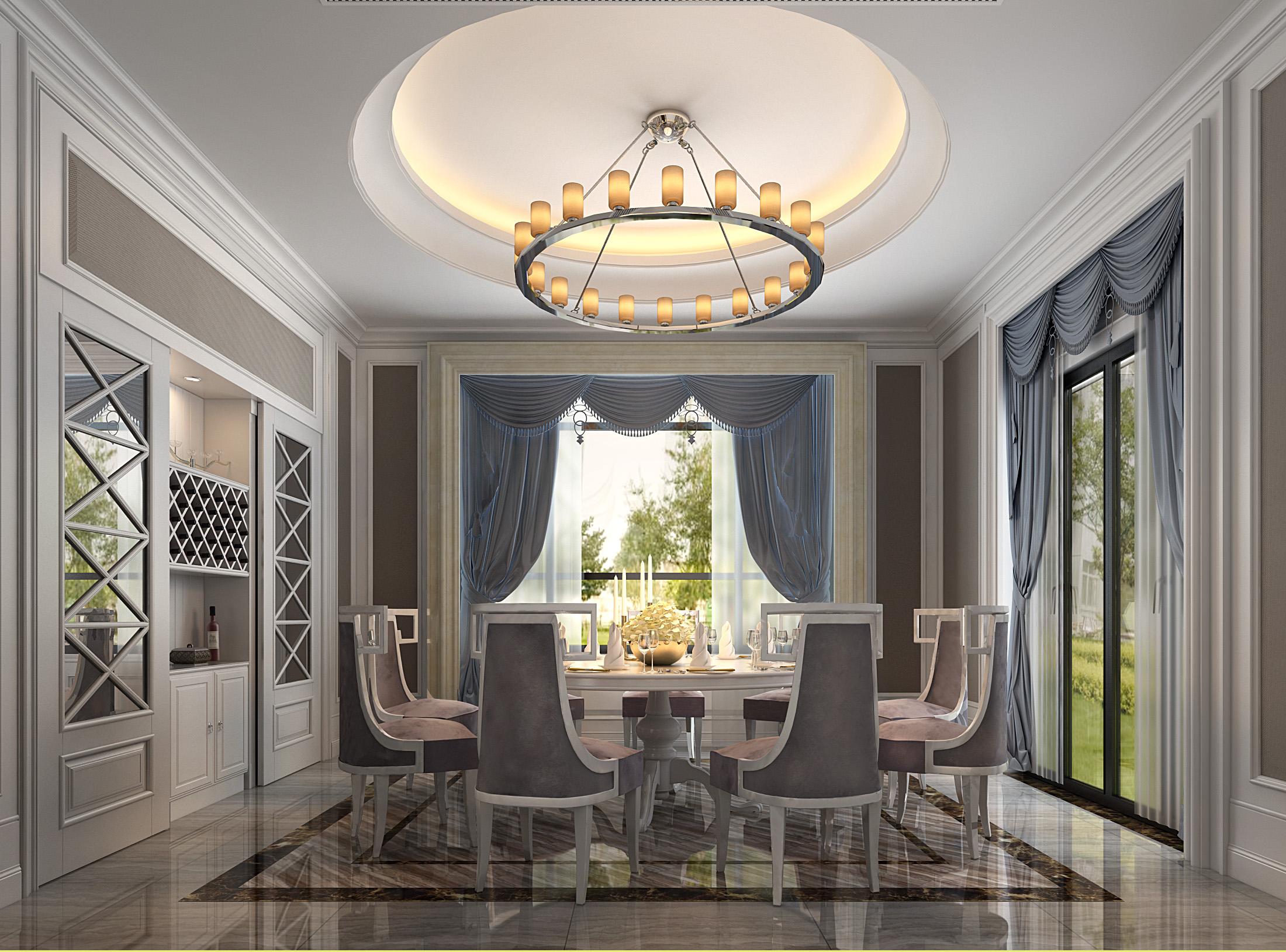 欧式 别墅 客厅 餐厅图片来自几墨空间设计在几墨设计| 欧式浮华的分享