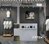 设计师打破传统界限,收银台采用新型陈列模式,灰与白的主色调,既能凸显出主角的色彩,也让空间显得整齐而有秩序。