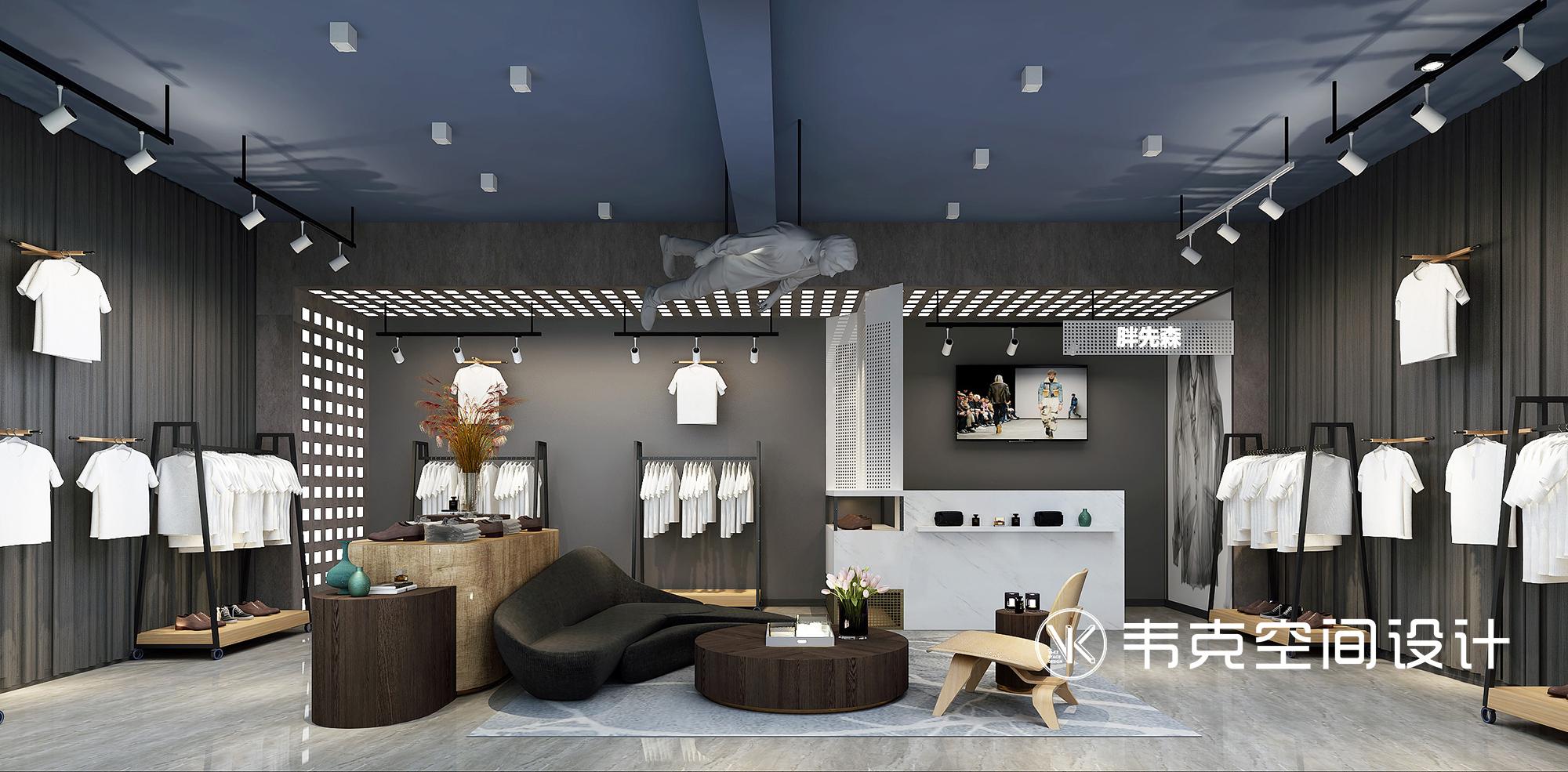 男装店 现代工业风 客厅图片来自韦克空间设计在男装店:接地气的绅士空间的分享