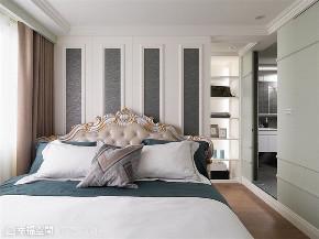 装修设计 装修完成 新古典 卧室图片来自幸福空间在99平,新古典内敛美宅的分享